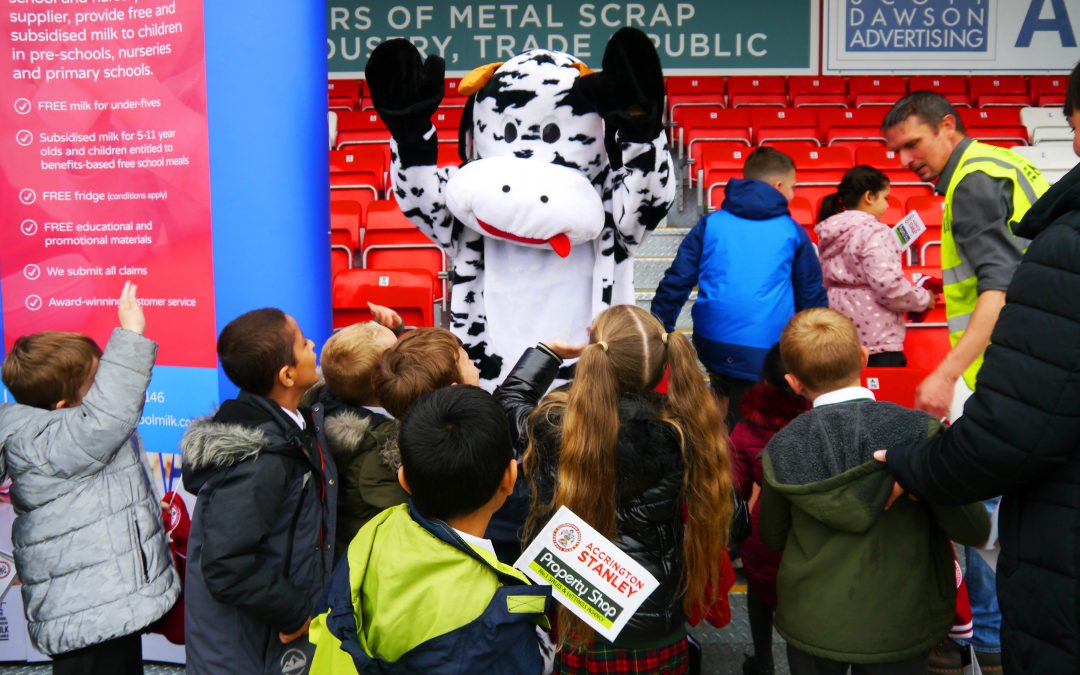 Cool Milk supports Accrington Stanley FC by providing free milk to local school children
