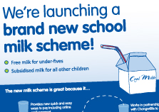 New milk scheme poster