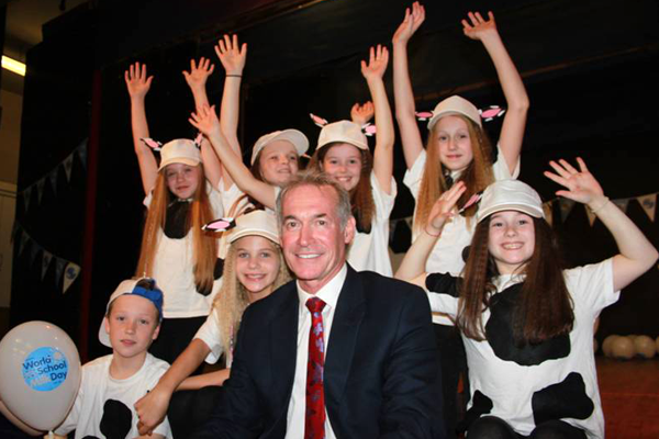 World School Milk Day Celebrations Include Visit From TV Doctor